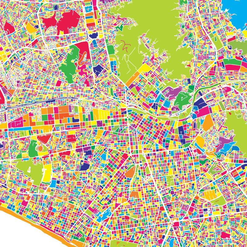 Lima, Lima District, Peru, kleurrijke vectorkaart stock illustratie