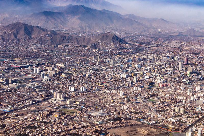 Lima is an interesting city. View from above. SONY DSC stock photo