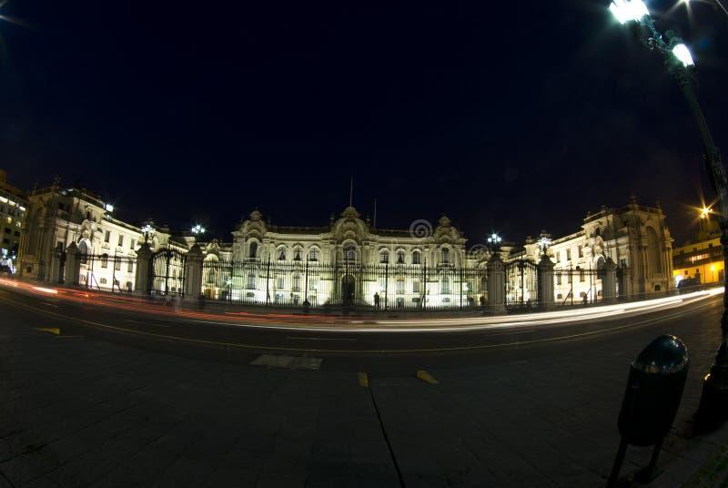 lima nattslott presidents- peru royaltyfria foton