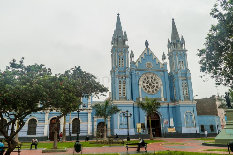 LIMA, PÉROU - 5 JUIN 2015 : église de Recoleta de La dedans en Li photos stock