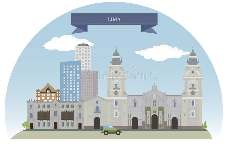 Lima, Peru vector illustratie