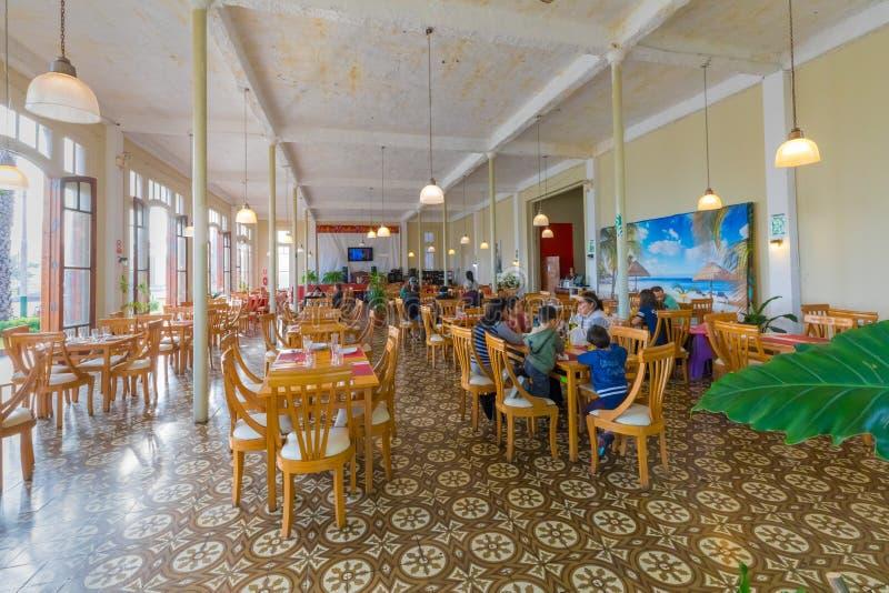 Interior of restaurant locality La Punta Lima stock images