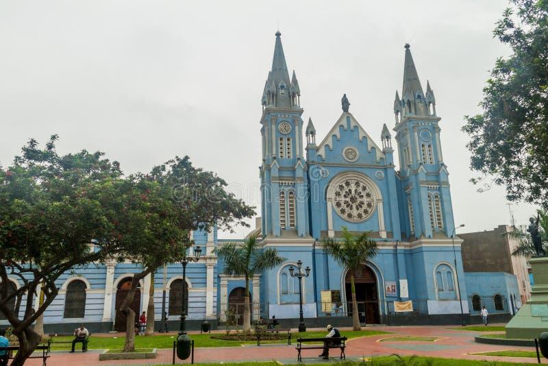 LIMA PERU, CZERWIEC, - 5, 2015: losu angeles Recoleta kościół wewnątrz w Li zdjęcia stock