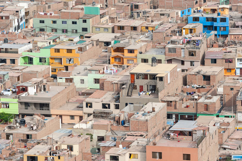 Lima, Peru. District of Chorrillos royalty free stock photo
