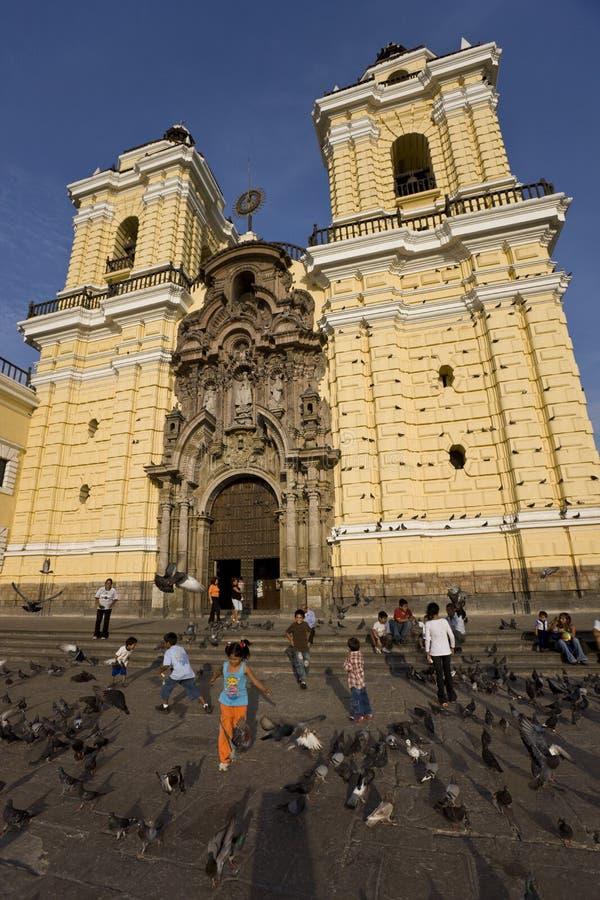 Lima-- Peru-- Francisco-Kirche lizenzfreie stockfotografie