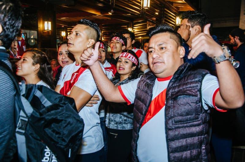 Friendly game Peru vs Scotland Lima - Peru 2018 royalty free stock images