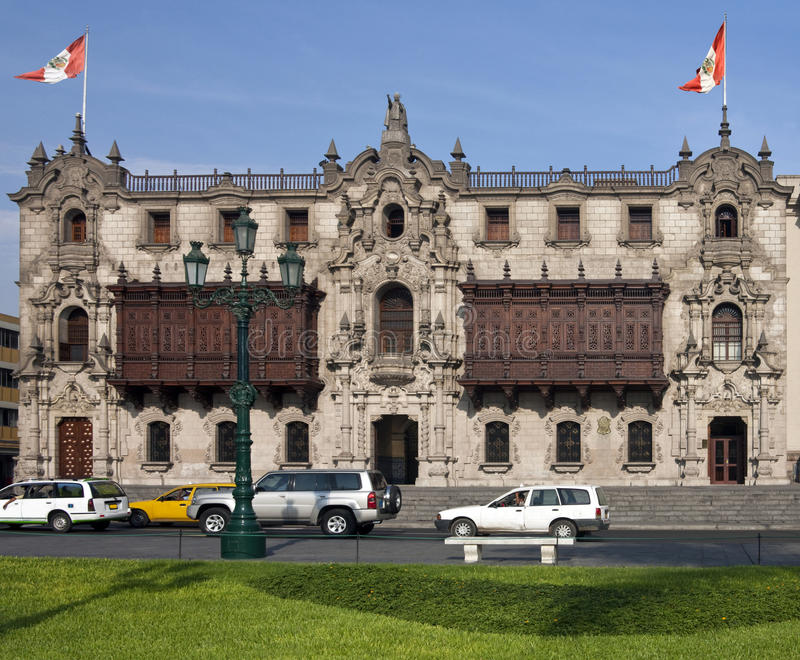 Lima in Peru - Plaza de Armes - South America stock image