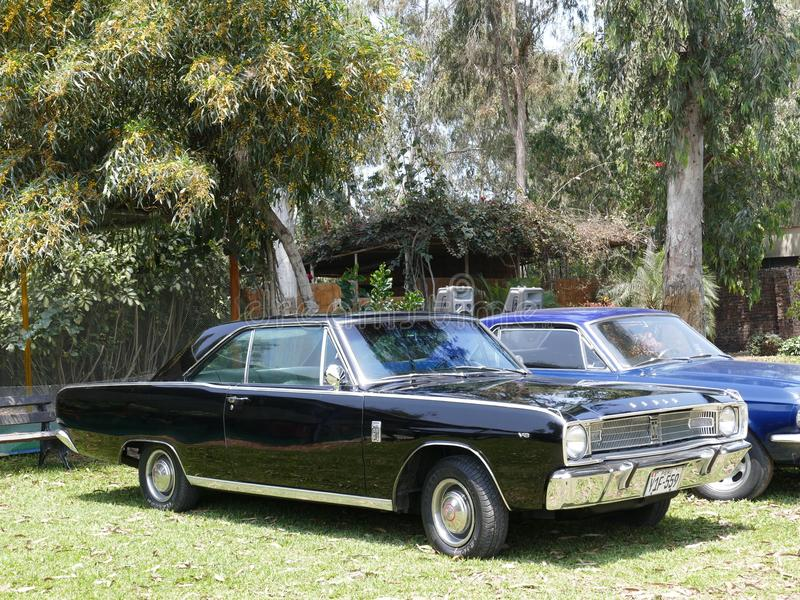 Black mint condition Dodge Dart GT coupe in Lima stock image