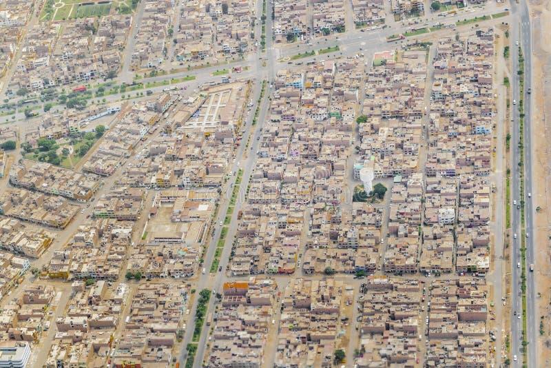 Lima Urban Outskirt Aerial View fotografia stock libera da diritti