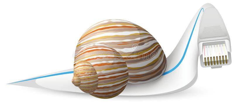 Download Ślimaczek ilustracja wektor. Ilustracja złożonej z desktops - 28959912