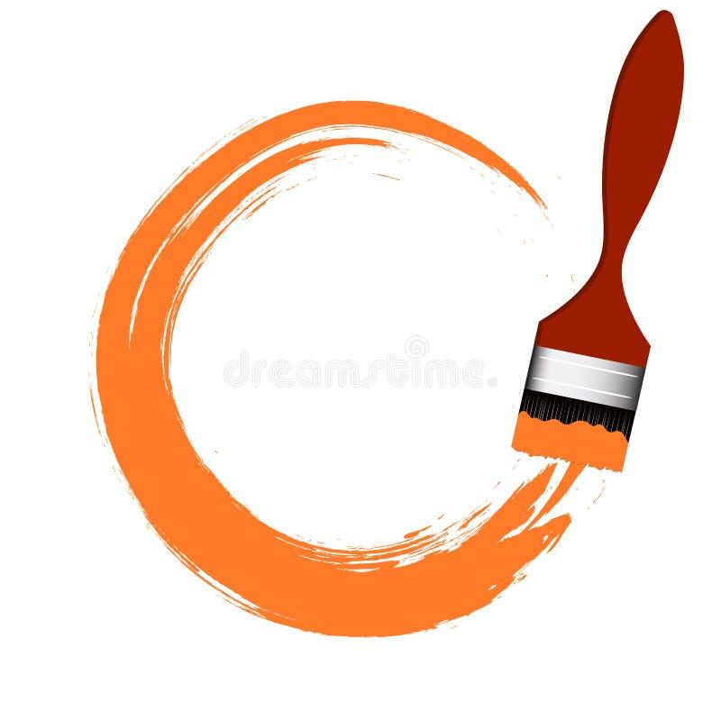 Limanda della spazzola Disegno di arte illustrazione vettoriale