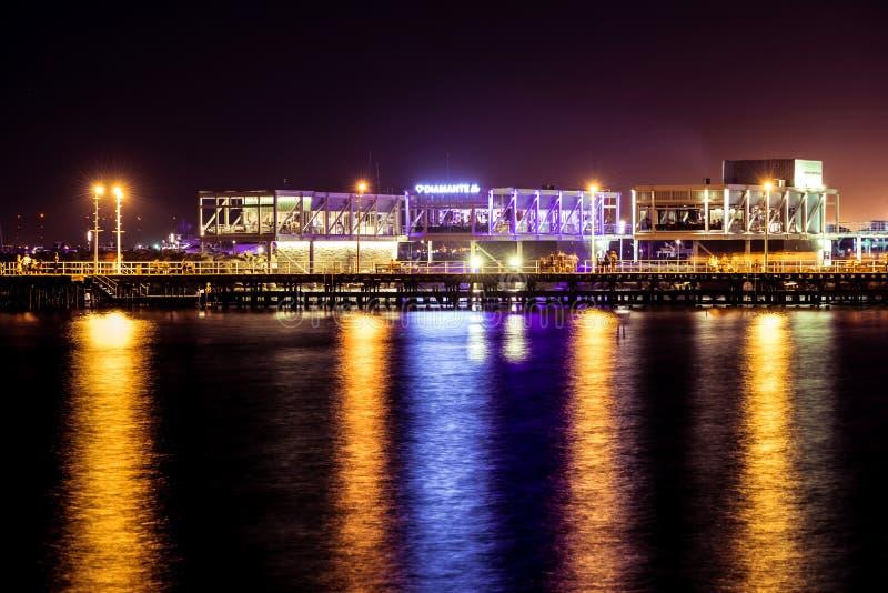 LIMASSOL CYPR, SIERPIEŃ, - 17, 2016: Niedawno budujący Limassol m obraz stock