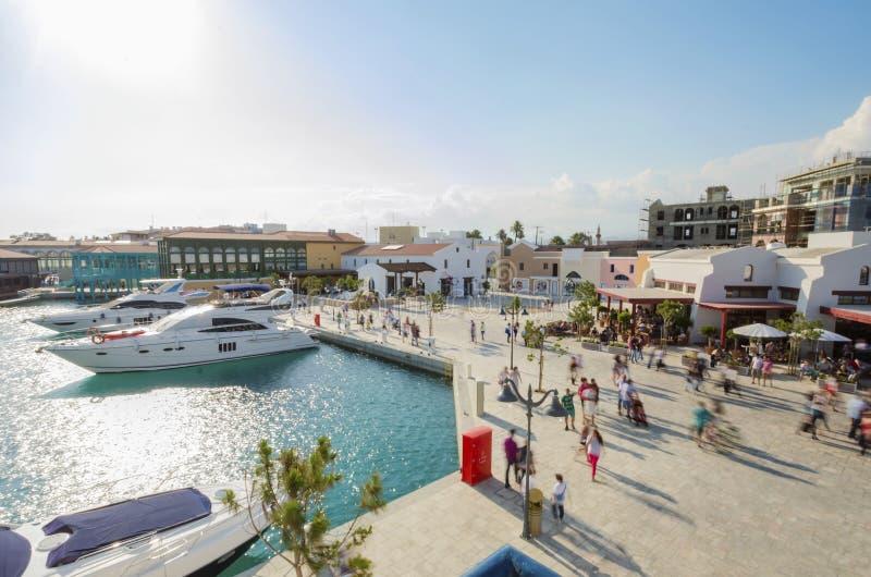Limassol-Jachthafen, Zypern lizenzfreies stockbild
