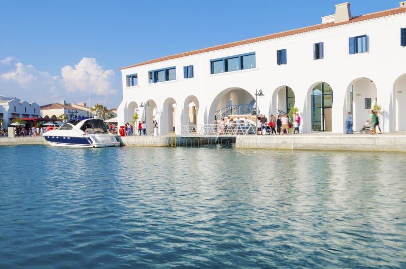 Limassol-Jachthafen, Zypern stockfotos