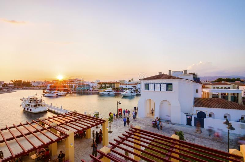 Limassol-Jachthafen, Zypern lizenzfreie stockbilder