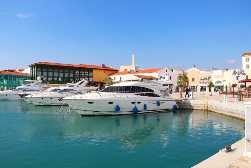 Limassol-Jachthafen, Zypern lizenzfreie stockfotos