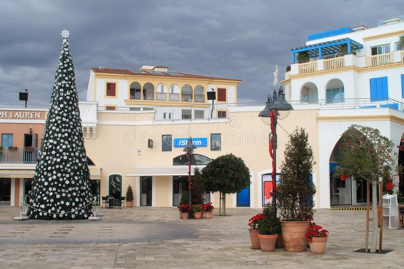 Limassol Jachthaven in December stock afbeeldingen