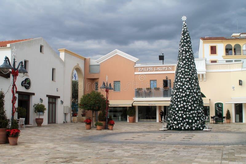 Limassol Jachthaven in December royalty-vrije stock afbeeldingen
