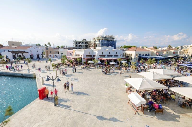 Limassol marina, Cypern arkivbild