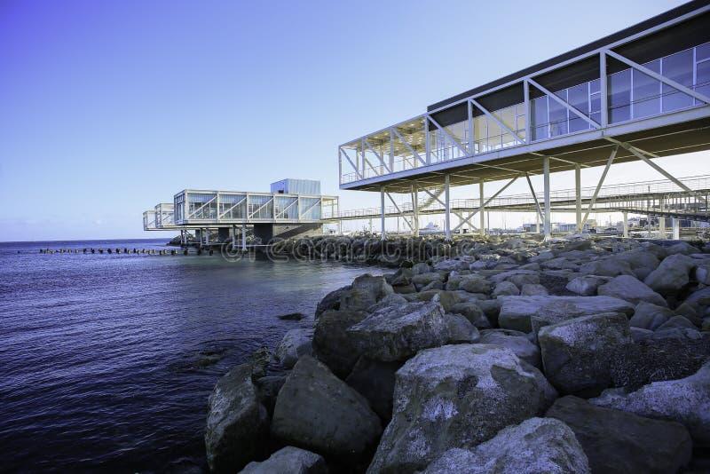 Limassol marina på den gamla porten av Limassol, Cypern arkivfoton