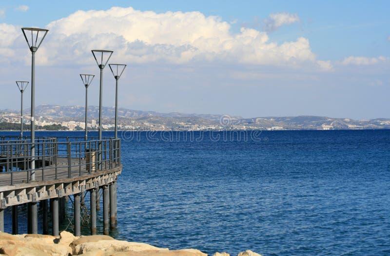 Limassol Molos promenade royalty-vrije stock afbeelding