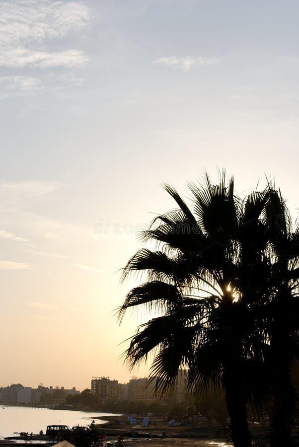 Limassol-Sonnenuntergang stockbilder
