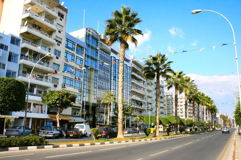 Limassol street royalty free stock images