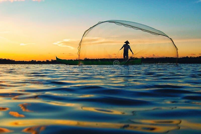 Limboto de lac fisherman image stock