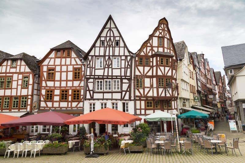 Limbourg, Allemagne, centre de la vieille ville, façades d'à colombage photographie stock