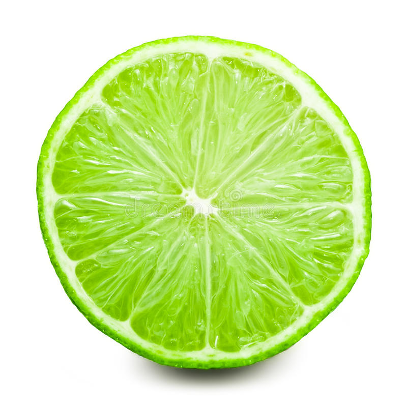 Lime. Fresh lime isolated on white background royalty free stock photos
