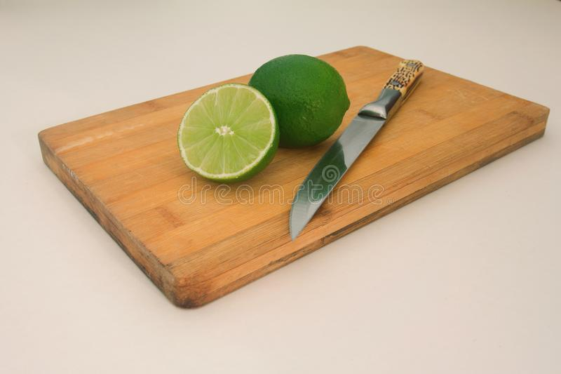 Lime on the board royalty free stock image