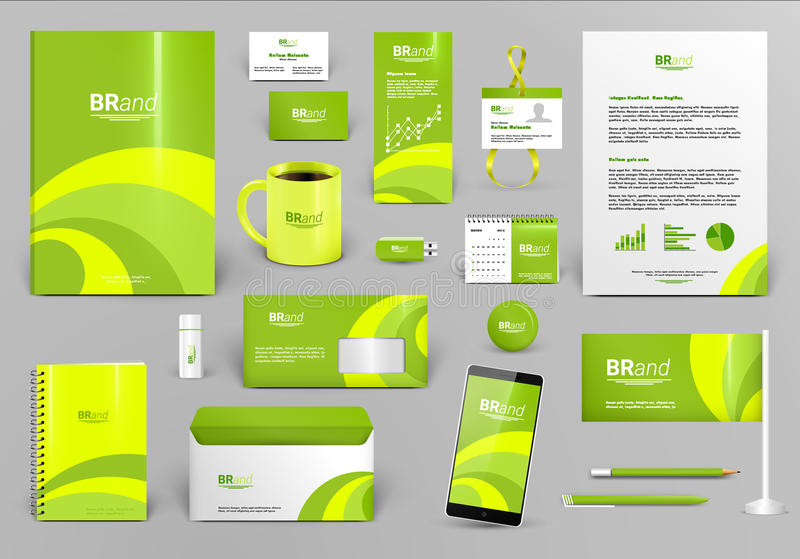 Lime Corporate Identity Template. Stock Vector - Illustration ...