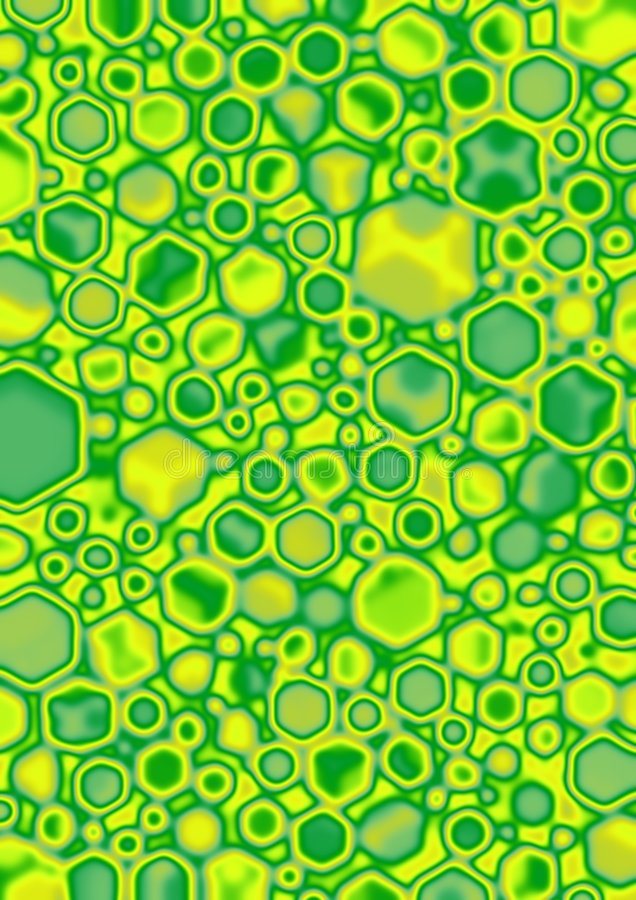 Lime Cube Blobs. Yellow, Green, Lime Cube blobs stock illustration