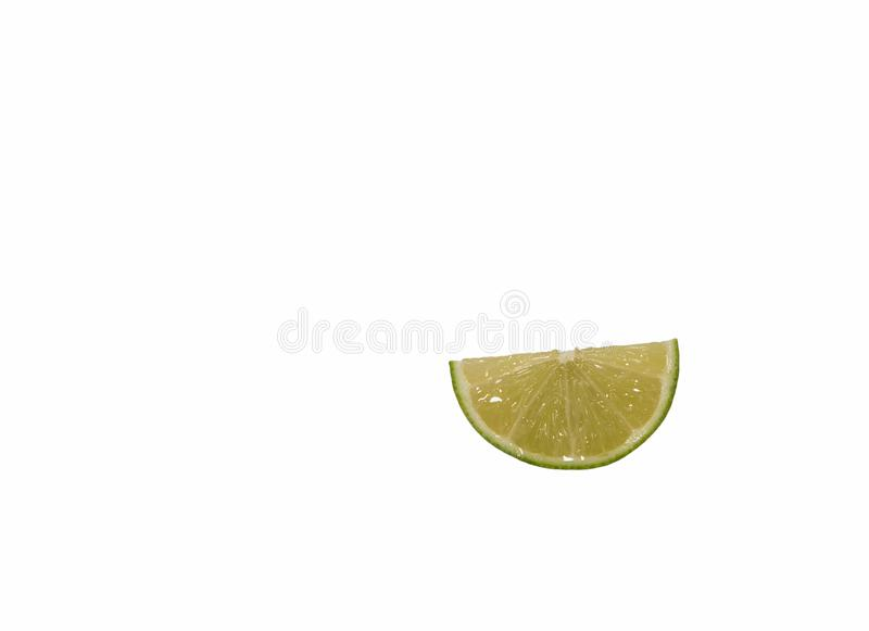 Lime is cut into thin pieces. stock images