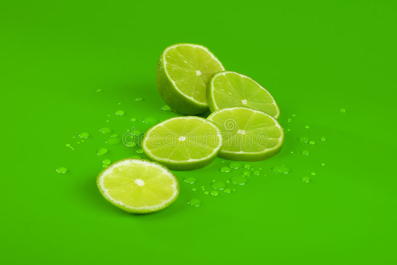 Lime and drop stock images