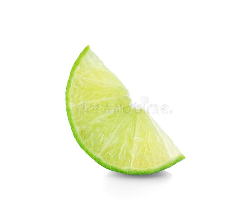 Download Lime. Fresh Fruit With Leaf Isolated On White Background. Stock Image - Image of segment, green: 103689647