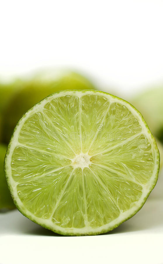 Lime, frontal royalty free stock photo