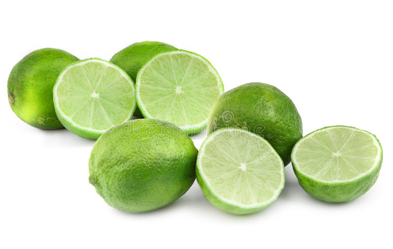 Download Lime fruit on white stock image. Image of nutrient, slice - 15172079