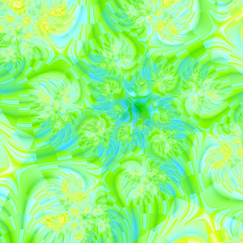 Lime Green Chaos stock illustration