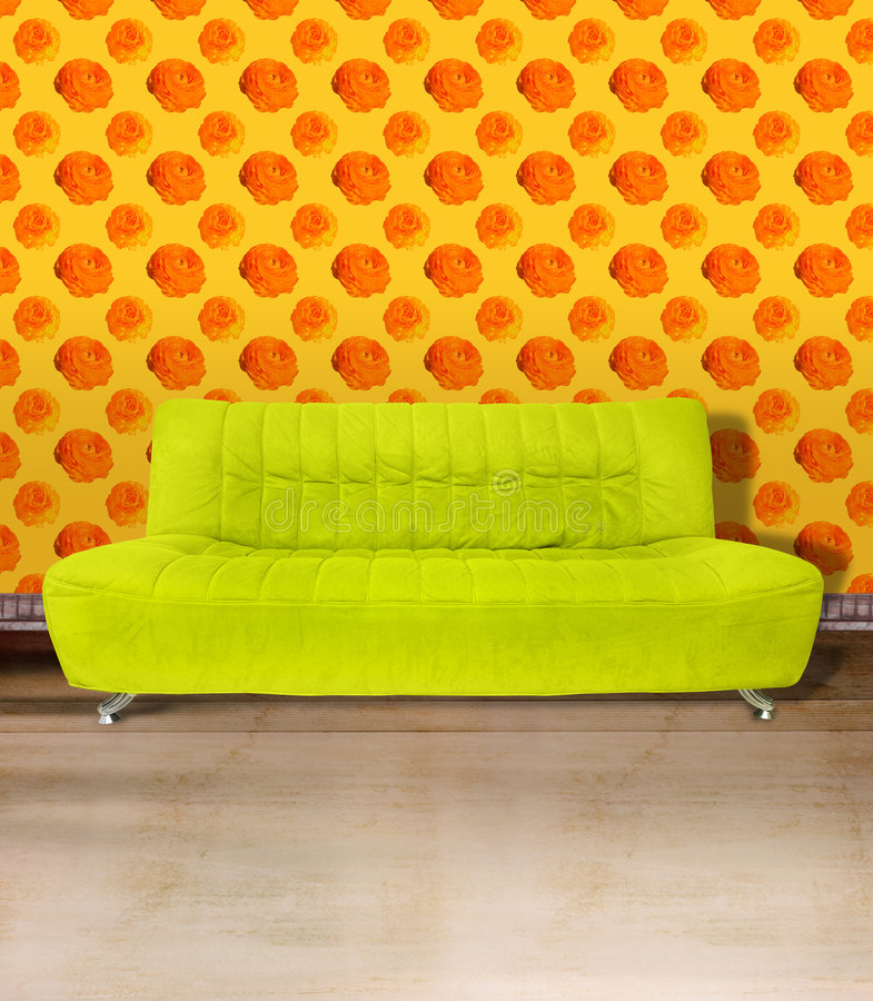 Download Lime green couch stock image. Image of furnishings, indoors - 2549537