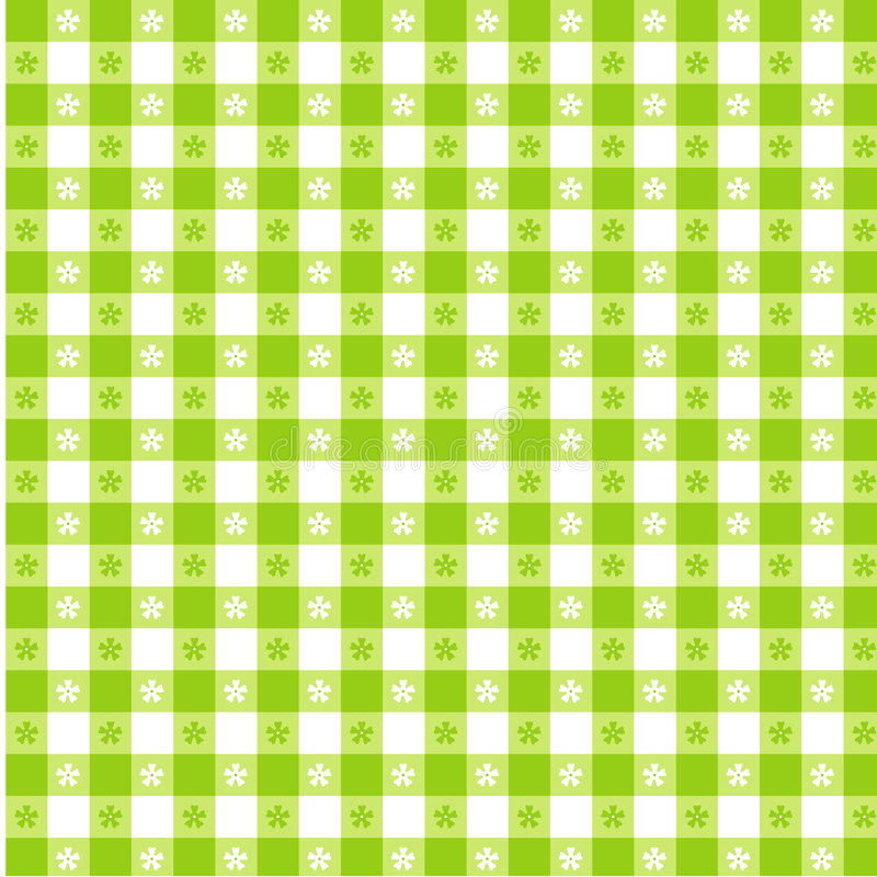 Lime Green Tablecloth Seamless Pattern vector illustration