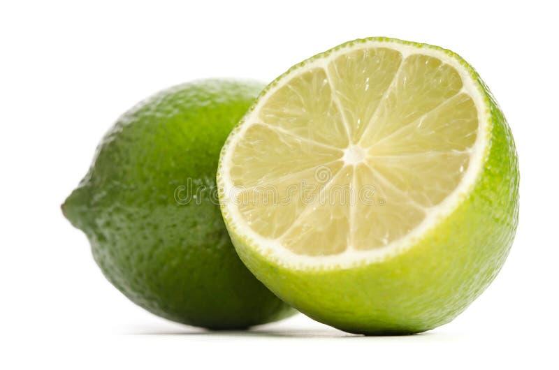 Lime and half of lime stock image