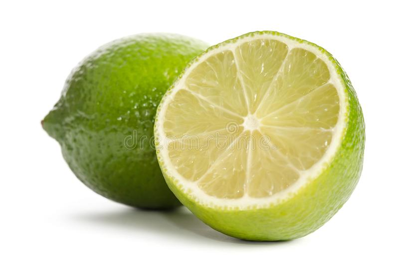 Lime and half of lime stock photos