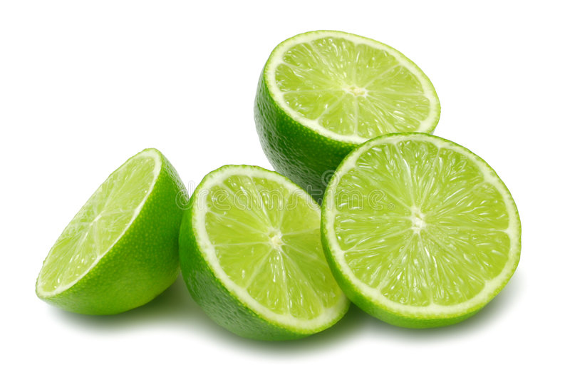 Lime Halves royalty free stock photography