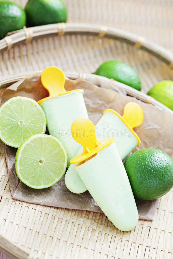 Lime ice-cream stock photography