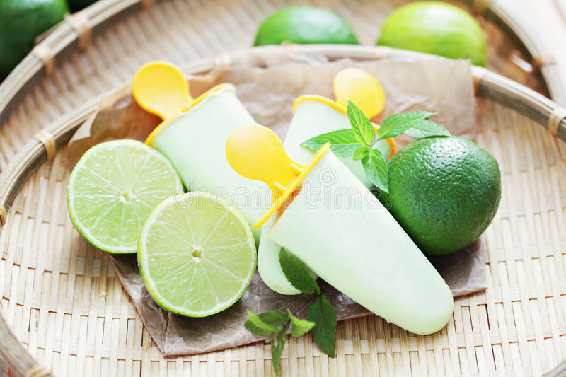 Lime ice-cream royalty free stock photography