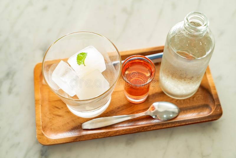 Lime ice Cube royalty free stock images
