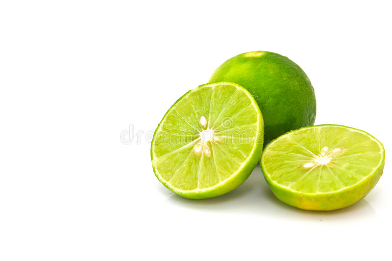 Lime isolated on white background. Lime isolated on white isolated background stock photo
