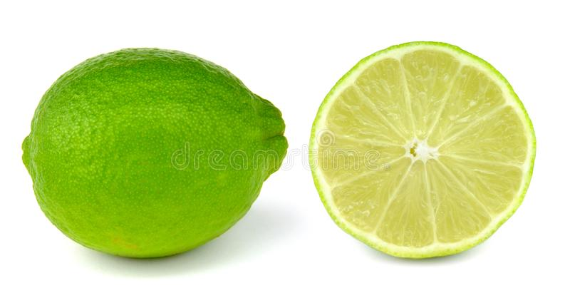 Lime isolated on white background royalty free stock images
