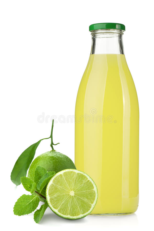Download Lime Juice Bottle, Ripe Limes And Mint Stock Image - Image: 23467977